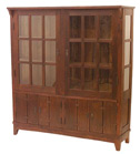 Stickley trapezoidal china cabinet