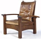Gustav Stickley Reverse taper Bow Arm Morris Chair